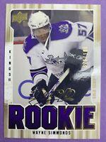 2009-09 Upper Deck MVP Rookie Gold Script #368 Wayne Simmonds 76/100 LA Kings RC