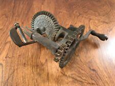 Antique Vintage Cast Iron Turned Table Apple Peeler Lockey & Howland Patd. 1856