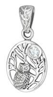 Eule Lebensbaum Anhänger 925er Silber Symbol Schmuck NEU