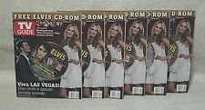 Elvis Presley Christmas 2006 TV Guide Magazines with CD 4