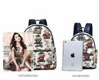 Lovely Bear Handbag Jacquard Shoulder Bag Mini Packet Ladies Bags Small Backpack