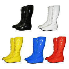 Pro Wrestling Costume Boots YELLOW BLACK RED WHITE BLUE