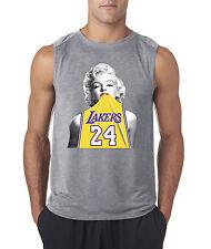 New Way 412 - Men's Sleeveless Marilyn Monroe Lakers 24 Kobe Bryant Gold Jersey