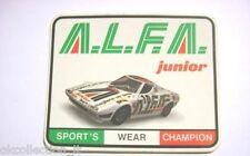 ADESIVO anni '80 /Old Sticker MODELLINO AUTO LANCIA STRATOS ALITALIA (cm 12x10 )