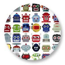 "Pin Button Badge Ø25mm 1"" Motif Pattern dessin art couleur illustration Robot"