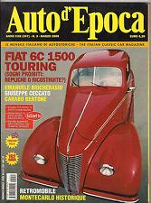03/05 AUTO D'EPOCA FIAT 6C 1500 TOURING DOLOMITICA 2005 RETROMOBILE BERTONE