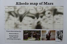 SIR PATRICK MOORE Signed Ltd Edition 17X12 Print ASTRONOMY ALBEDO MARS MAP COA