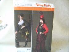 Goth Steampunk costume pattern Simplicity S1819 size 6-12