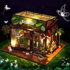 DIY Puppenhaus Gewächshaus Romantisch LED Modellbausatz Miniatur Dolls House