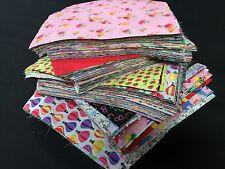 Random POLYCOTTON PRINTS Bundle JobLot Mixed Craft Fabric Scraps Material Offcut