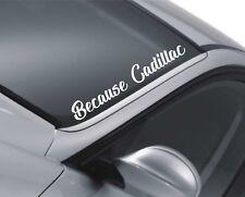 Cadillac Car Windscreen Sticker Escalade Rear Window Sticker Decal QS17