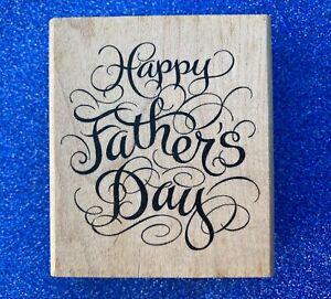 NEW Inkadinkado 'Happy Father's Day' Rubber Stamp