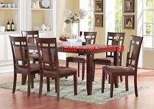 Contemporary Chocolate Mfb Dining Chairs 2pc set Cushion seat Furniture Chair