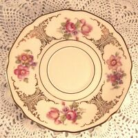 Vintage Tirschenreuth Bavaria SAUCER ONLY Pink Roses Flowers With Gold 828/2