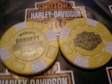 Yellow & White Poker Chip Barnett Harley Davidson El Paso, TX