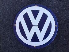 New ListingVintage Volkswagon Porcelain Sign Gas Oil Dealer Pump Plate Vw Bug Beetle Car