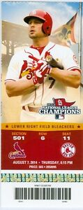 2014 Cardinals vs Red Sox Ticket: Kolton Wong 2 HRs/Adam Wainwright win