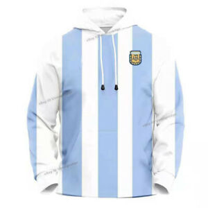 Retro 1986 Maradona #10 Thick Hoodie Sweater Cotton Warm Tribute
