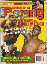 WORLD BOXING MAGAZINE ROY JONES Jr-PERNELL WHITAKER BOXING HOFer FEBRUARY 1996