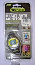 Skechers GOwalk Pacer Plus Strapless Heart Rate Monitor Watch Gray Pedometer NEW