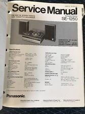 Original Panasonic Technics Model SE-1250 Stereo Turntable Service Manual