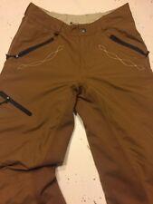 Powderhorn Ski Pants Ladies Large Caramel Brown Perfect