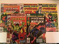 Marvel Team-Up #53 + #51, #52, #54, #55 ~ Lot of 5 ~ All VF to NM ~ Great Deal!