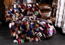 1307 Blue Fox Genuine Fur Blanket Throw in multicolor Scandinavian Fox Plaid