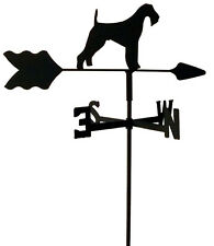 AIREDALE TERRIER GARDEN WEATHERVANE WROUGHT IRON LOOK MADE IN USA TLS1002IN