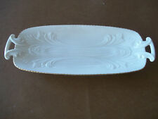LENOX China Spring Garden Collection Celery Dish with Gold Trim