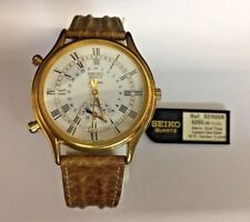 VINTAGE SEIKO DAY DATE ALARM CALENDAR RARE COLLECTIBLE WATCH!