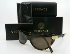 Versace Mod 4365Q 108/73 Cat Eye Havana Medusa Sunglasses, New w/ Box 54mm