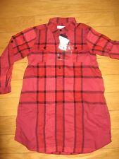 NEW $215 Burberry Girls' Check Print Daria Tunic Shirt Dress Size 5Y/110cm