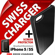 New Swiss Charger Brushed Aluminium Case Clip-On Shell Cover for iPhone 5 5S SE