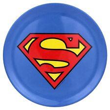 Superman Logo Warner Bros. Plates Multicolor Set Of 4 DC Comics Man of Stee