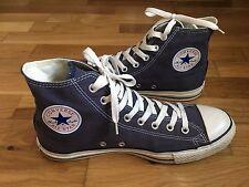 Da Uomo Converse All Star Tela Sneaker Alte Scarpe Da Ginnastica Misura UK 9 EU 42.5 Blu