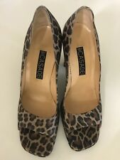 CASADEI Leopard Print Heels Size 9 Made In Italy