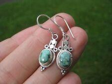 925 silver natural Tibetan stone turquoise earrings earring Nepal jewelry A15