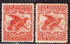 NEW ZEALAND 1898 STAMP Sc. # 81/81a MH BIRD