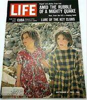 Life Magazine September 21 1962 Iran Earthquake Kids Cuba Anti-Castro Rebels