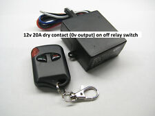 12V 30A dry contact 0Vout on-off wireless remote control switch RX101