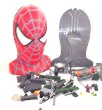Spider Man Mega Bloks 3 Goblin's Secret Lab Assault Head & 99 Pieces Spider-man