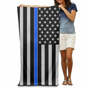 THIN BLUE LINE FLAG BEACH TOWEL