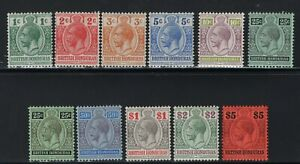 1913-21 British Honduras. SC#75-84. SG#101/110. Mint, Hinged, VF.