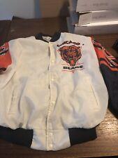 Vintage 90s Chalk Line NFL Chicago Bears Retro Fanimation Bomber Jacket XL