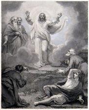 TRANSFIGURATION 1791 Jean Marie Delattre - Robert Smirke ANTIQUE ETCHING