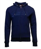 Superdry Mens New VL Emb Long Sleeved Full Zip Hoody Navy