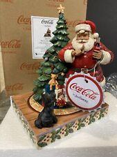 Jim Shore Not So Silent Night Santa Scotty Dog Coca Cola Coke Christmas Tree