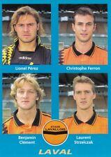 n°375 VIGNETTE PANINI CHAMPIONNAT DE FRANCE 1996 4 joueurs LAVAL