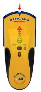 STUD FINDER - Zircon L40 - Detects Wood and Metal Studs- Wiring Sensor Warning